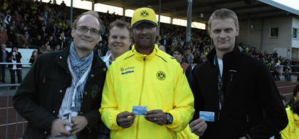 Rotaracter beider Clubs mit Jürgen Klopp